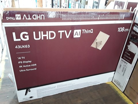 "Lot 1065 LG 43"" ULTRA HD THINQ TELEVISION MODEL 43UK6300PLB"