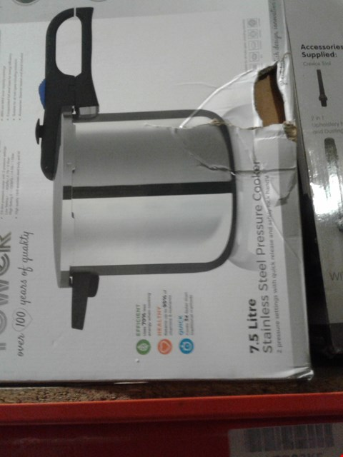 Lot 136 TOWER STAINLESS STEEL PRESSURE COOKER