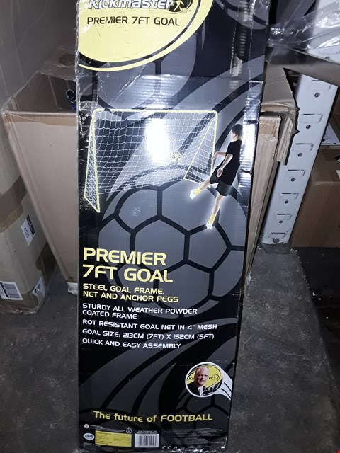 Lot 3559 BOXED GRADE 1 KICKMASTER STEEL GOAL FRAME RRP £47.99