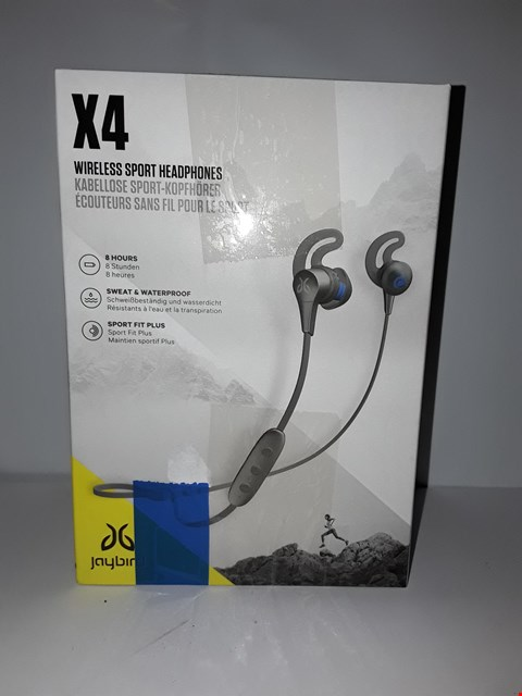 Lot 4059 JAYBIRD X4 SPORT AND RUNNING, WIRELESS BLUETOOTH HEADPHONES