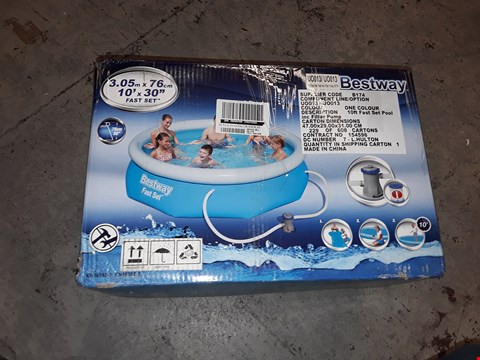 Lot 7551 BESTWAY 10FT POOL FAST SET BLUE RRP £169.00