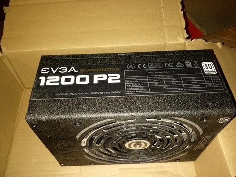Lot 18760 EVGA SUPERNOVA 1200 P2 80+ PLATINUM, 1200W ECO MODE FULLY MODULAR NVIDIA SLI AND CROSSFIRE READY POWER SUPPLY
