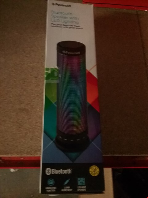 Lot 1638 6 × BOXED POLAROID BLUETOOTH SPEAKERS WITH LED LIGHTING