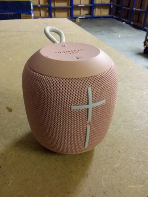 Lot 957 ULTIMATE EARS WONDERBOOM BLUETOOTH SPEAKER WATERPROOF WITH DOUBLE-UP CONNECTION - CASHMERE PINK
