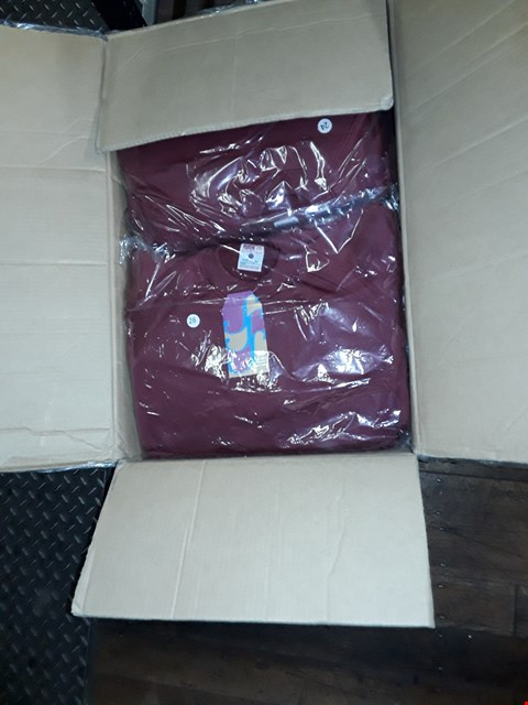 Lot 1364 A BOX OF APPROXIMATELY 50 GIRL'S CARDIGANS - MAROON