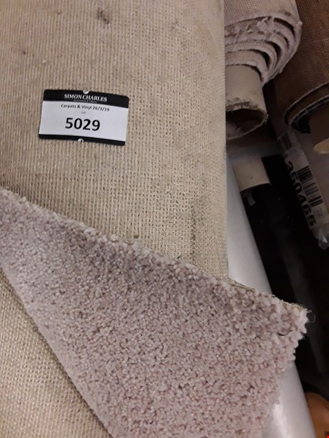 Lot 5029 ROLL OF CREAM CARPET SIZE UNSPECIFIED