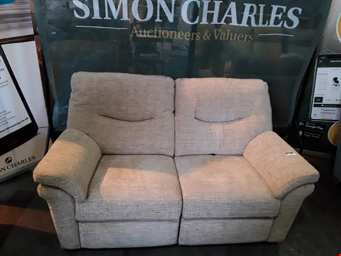 Lot 9015 QUALITY BRITISH MADE HARDWOOD FRAMED POWER RECLINING TWO SEATER SOFA