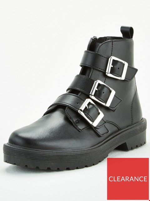 Lot 3169 BRAND NEW BOXED OFFICE APHID ANKLE BOOTS - BLACK SIZE 5