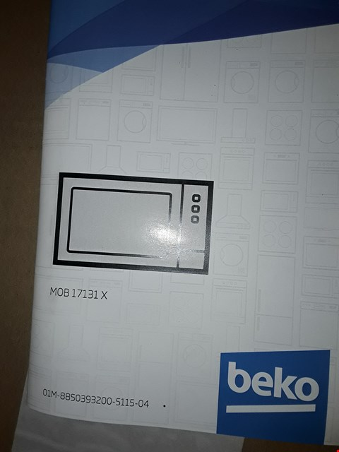 Lot 3038 BOXED BEKO MOB17131X 17 LITRES MICROWAVE OVEN