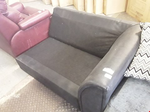 Lot 410 DESIGNER BLACK FAUX LEATHER CORNER SECTION