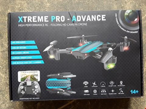 Lot 7405 XTREME PRO ADVANCE FOLDING HD CAMERA DRONE