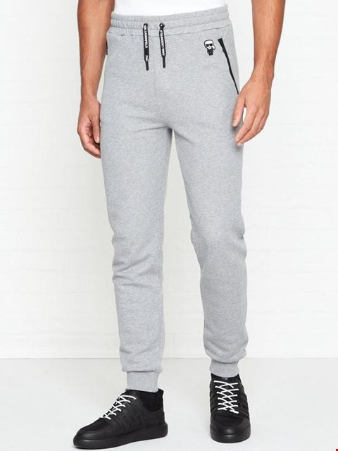 Lot 7119 KARL LAGERFELD MINI KARL LOGO GREY JOGGERS - SIZE MEDIUM
