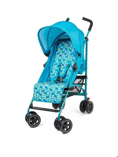 Lot 1208 BRAND NEW BOXED MOTHERCARE AQUA CHEVRON NANU STROLLER (1 BOX) RRP £74.99