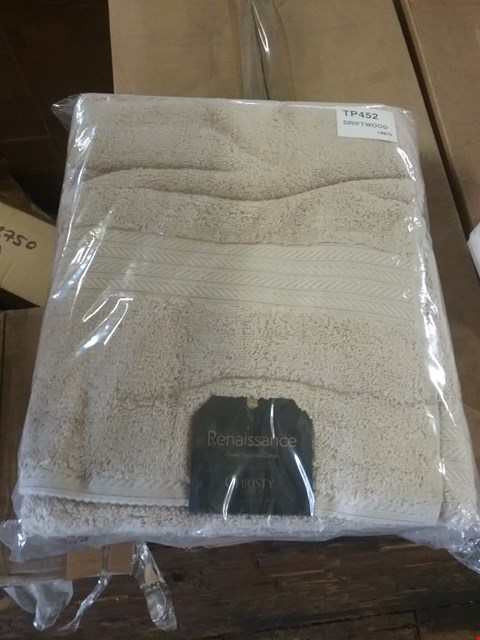 Lot 112 4 BOXES CONSISTING OF 12 ASSORTED CHRISTY BATH SHEETS