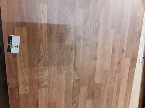 Lot 219 LIGHT OAK EFFECT ROUND EDGE LAMINATE KITCHEN WORKTOP - 3000X600X38MM