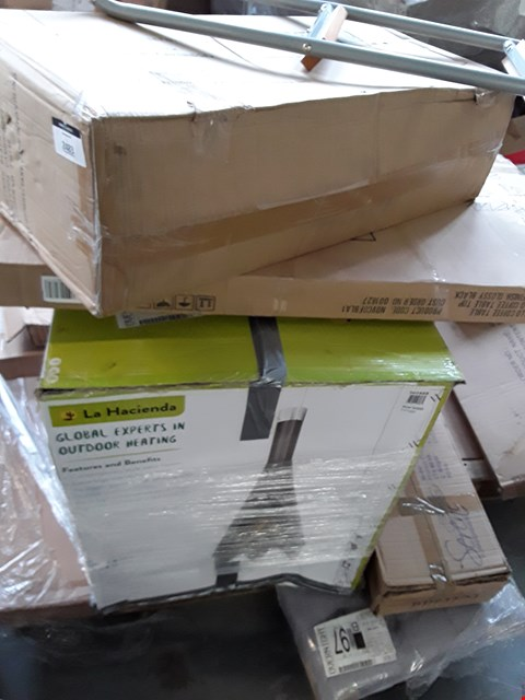 Lot 2483 PALLET OF ASSORTED FLAT PACK FURNITURE PARTS TO INCLUDE BED PARTS ETC