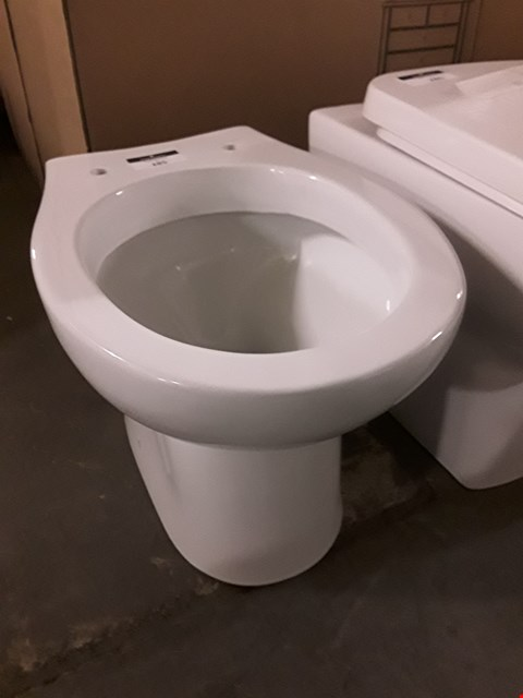Lot 285 ROUNDED WHITE CERAMIC BACK TO WALL TOILET