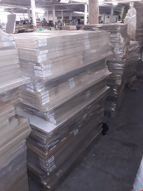 Lot 3104 PALLET OF ASSORTED BRAND NEW FLAT PACK KITCHEN ITEMS TO INCLUDE 600 APPLIANCE DOOR, 600 BIFOLD DOOR, 140 DRAWER FRONT