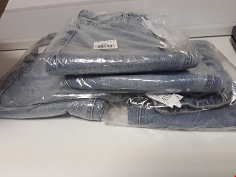 Lot 3454 BOX OF FIVE PAIRS OF TOPSHOP BLEACHED DENIM JEANS W26 × L32