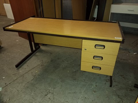 Lot 17074 WOOD EFFECT 3 DRAWER OFFICE DESK