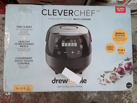 Lot 333 CleverChef by Drew&Cole 17 in 1 Multi Cooker - Rice Cooker, Slow Cooker, Steamer, Soup and Bread Maker - 5 Litres (860W) Charcoal
