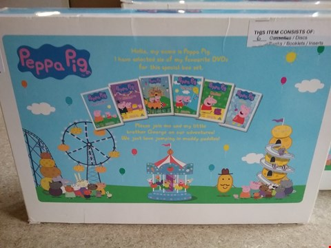 Lot 3003 2 BOXES OF 6 PEPPA PIG DVDS