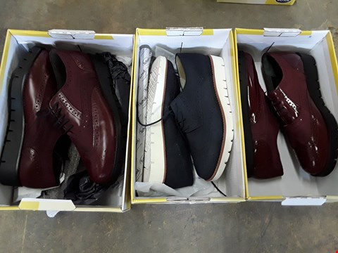 Lot 4046 3 BOXED SCHOLL VIRGINIA SUMMER & WINE BROGUES - SIZES 6.5, 7