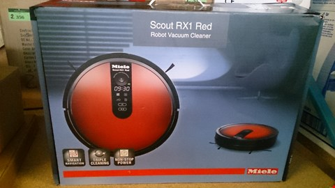 Lot 2409 A BOXED MIELE RX1 SCOUT ROBOT VACUUM CLEANER. RRP £600.00
