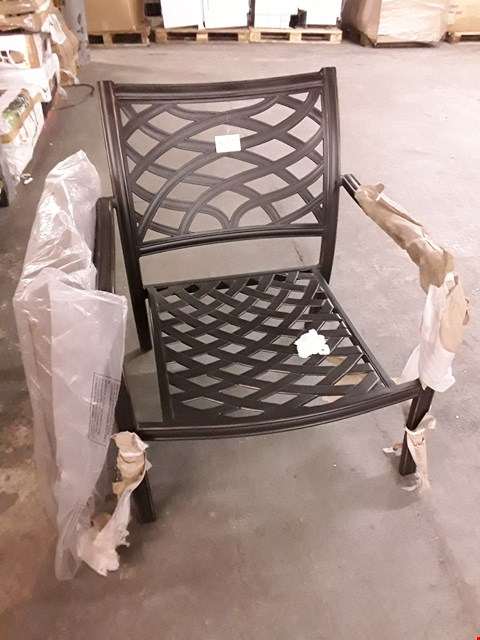 Lot 43 LOT OF 2 RIPLEY METAL GARDEN CHAIRS - ONLY INCLUDES 1 SEAT PAD
