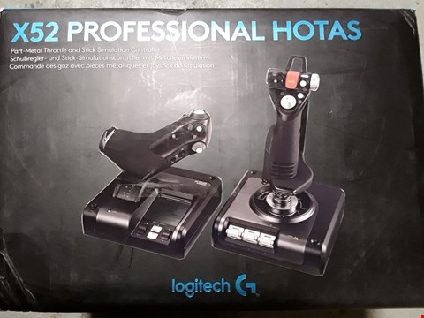 Lot 8100 LOGITECH X52 PRO HOTAS THROTTLE AND STICK SIMULATION CONTROLLER