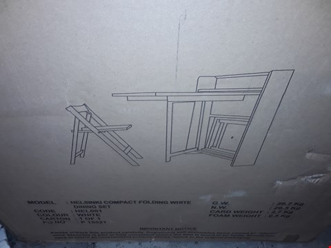 Lot 122 BOXED HELSINKI SPACE SAVER DINING TABLE + 2 CHAIRS (1 BOX) RRP £279
