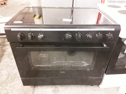Lot 32 SWAN SX2050B BLACK ELECTRIC RANGE COOKER WITH DOUBLE OVEN & CERAMIC HOB  RRP £630
