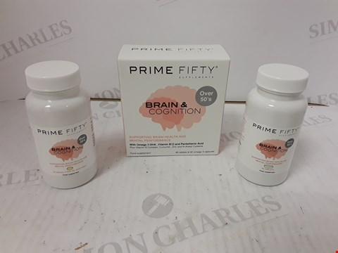 Lot 774 LOT OF APPROXIMATELY 7 ASSORTED PRIME FIFTY BRAIN & COGNITION FOOD SUPPLEMENTS