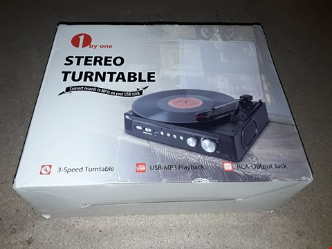 Lot 8028 1 BY ONE STEREO TURNTABLE