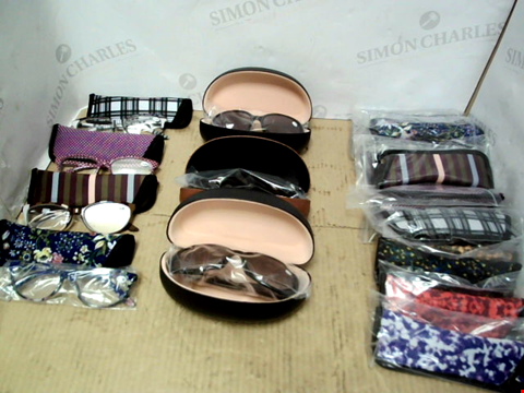 Lot 10236 LOT OF APPROXIMATELY 16 PAIRS READING GLASSES AND 3 PAIRS OF READING SUNGLASSES