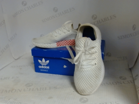 Lot 16065 BOXED PAIR OF DESIGNER ADIDAS TRAINERS - UK SIZE 4