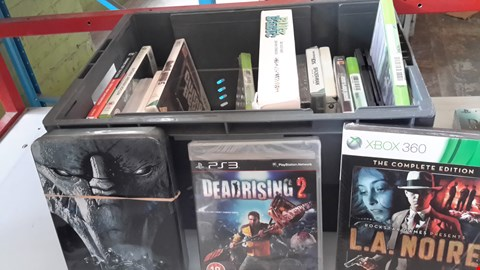 Lot 9033 BOX OF ASSORTED VIDEO GAMES INCLUDING MASS EFFECT, DEADRISING 2, L.A.NOIRE ETC