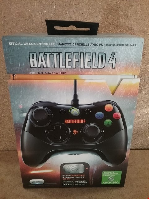Lot 347 BRAND NEW BOXED XBOX 360 CONTROLLER BATTLEFIELD 4