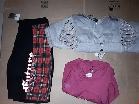 Lot 9392 LOT OF 4 BOXES OF APPROXIMATELY 103 CLOTHING ITEMS TO INCLUDE LJ C&S TARTAN SHORTS BLACK, LM EMB WRAP DRESS WATERLILY COLOUR, ECT