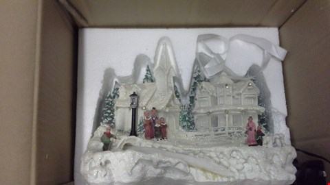 Lot 367 POLYRESIN LED CHRISTMAS VILLAGE  RRP £77.00