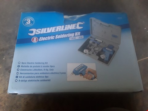 Lot 1262 SILVERLINE ELECTRIC SOLDERING KIT