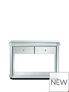 Lot 7120 BOXED DESIGNER PLINTH MIRRORED CONSOLE TABLE (1 BOX) RRP £199.99