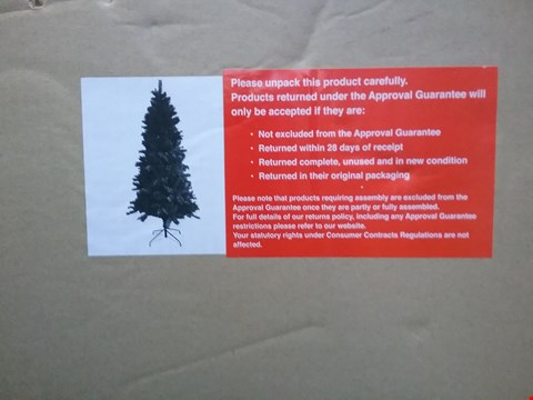 Lot 1598 BOXED 7FT MIXED PINE CHRISTMAS TREE RRP £150.00
