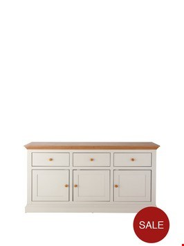 Lot 12053 BOXED HANNAH SAGE/OAK-EFFECT LARGE SIDEBOARD (BOX 1 OF 2 ONLY) RRP £299.99