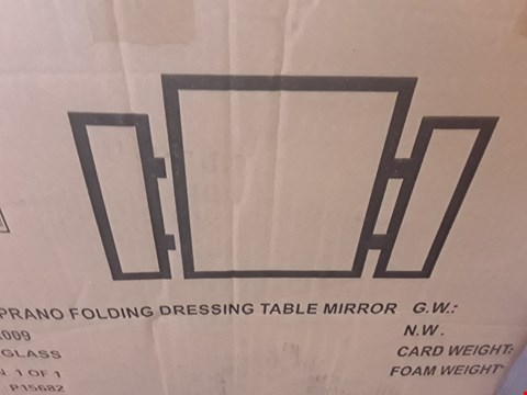 Lot 11082 BOXED SOPRANO FOLDING DRESSING TABLE MIRROR