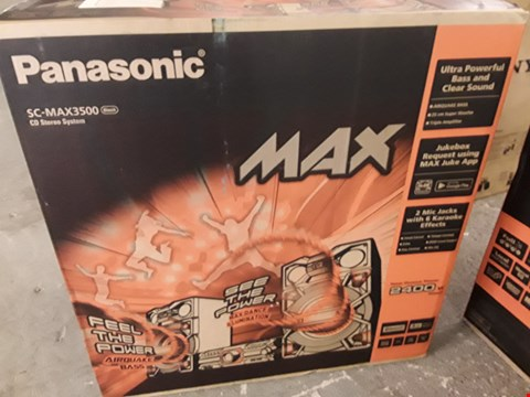 Lot 268 PANASONIC SC-MAX3500EK CD STEREO SYSTEM RRP £719.95