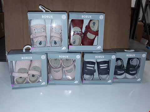 Lot 12799 LOT OF 6 ASSORTED PAIRS OF BOBUX BABY SHOES