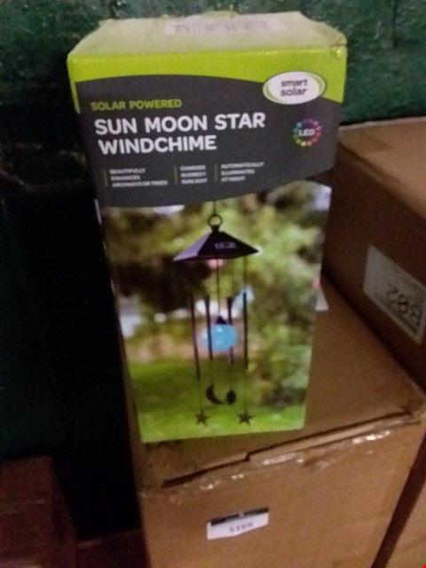 Lot 5163 GRADE 1 BOXED SMART SOLAR SUN MOON STAR WIND CHIME RRP £16.00