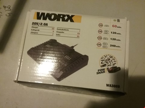 Lot 5843 WORX 20V/2.0A CHARGER