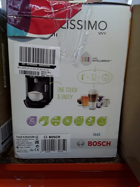 Lot 221 BOXED BOSCH TASSIMO VIVY COFFEE MAKER